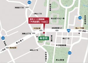 梅窓院 地図